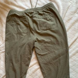 Green woman's joggers